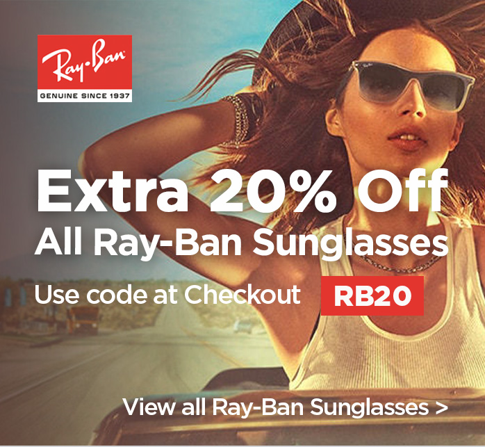 Extra 20% Off all Ray-Ban Sunglasses
