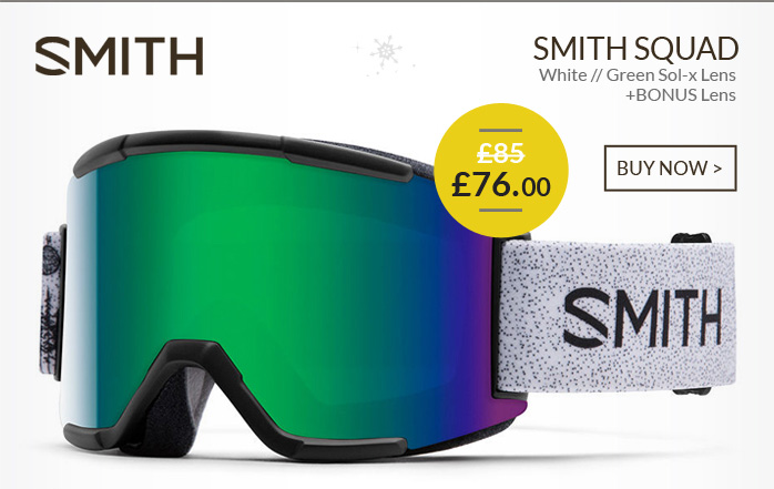 SMITH SQUAD - White / Green Sol-x Lens and BONUS Lens