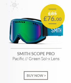 SMITH SCOPE PRO - Pacific - Green Sol-x Lens