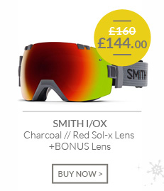 SMITH I/OX - Charcoal - Red Sol-x Lens and BONUS Lens