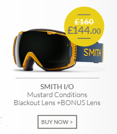 SMITH I/O - Mustard Conditions - Blackout Lens and BONUS Lens