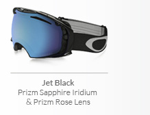 Jet Black - Prizm Sapphire Iridium and Prizm Rose Lens