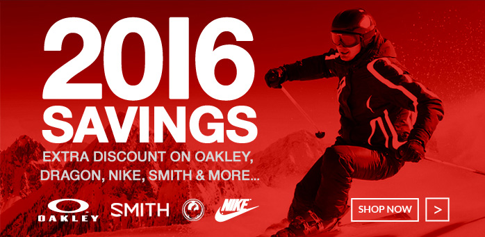 2016 savings - Extra discount on Oakley, Dragon, Nike, Smith and more
