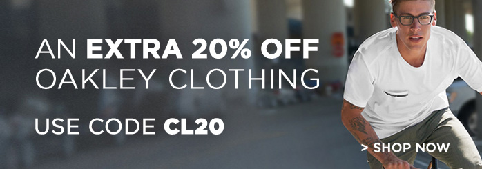 20% Off Oakley Clothing