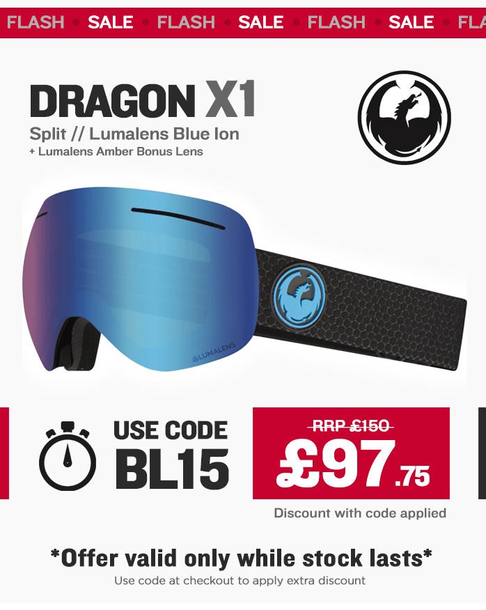 Black Friday - Dragon X1 Ski Goggle