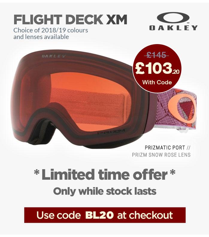 Extra 20% Off all Oakley Flight Deck XM