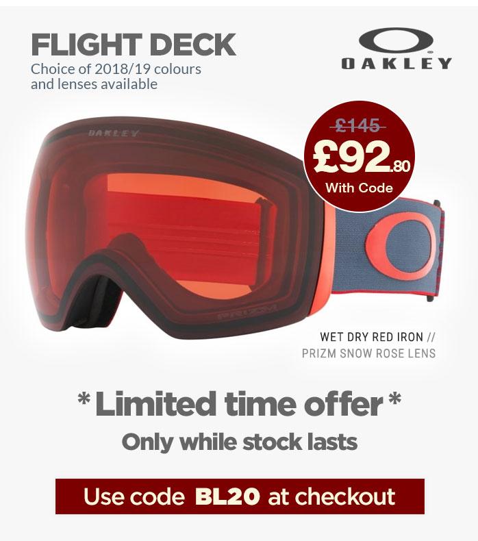 Extra 20% Off all Oakley Flight Deck
