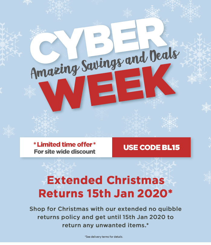 Cyber Week - Extra 15% Off Everything