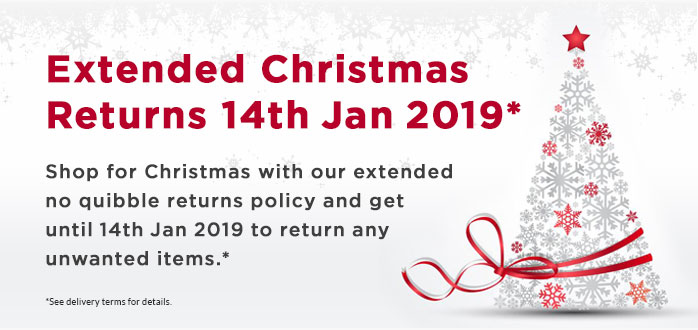 Extended Christmas Returns 2018-19