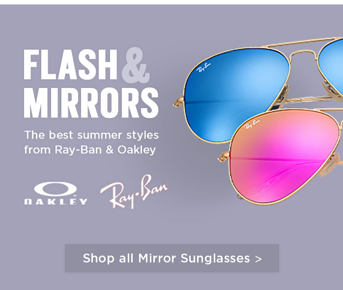 Shop by Mirror lenses, Oakley, Ray-Ban