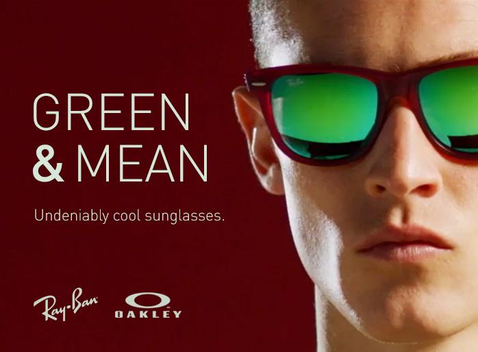 Green Mirror Lenses