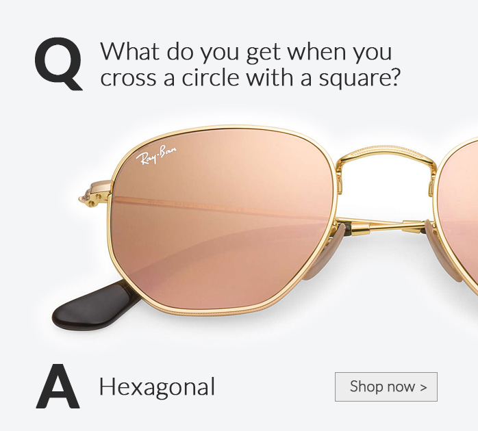 Shop by Style, Hexagonal Sunglasses