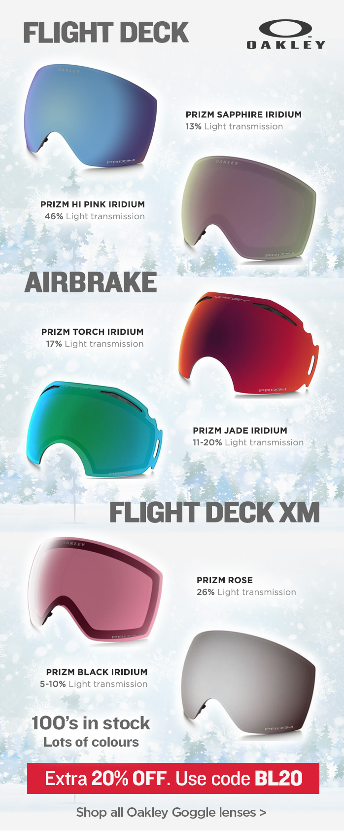 Replacement Oakley Goggle Lenses