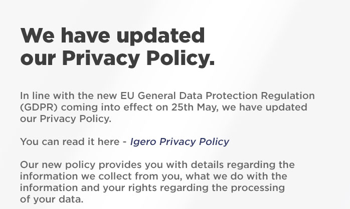Important Privacy update