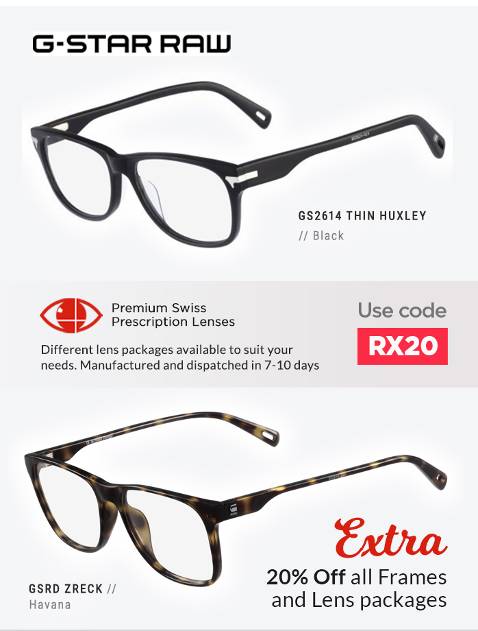 G-Star Raw Glasses