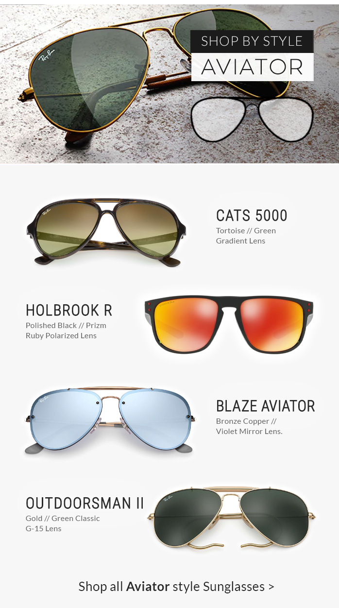 Shop by Style | Aviator