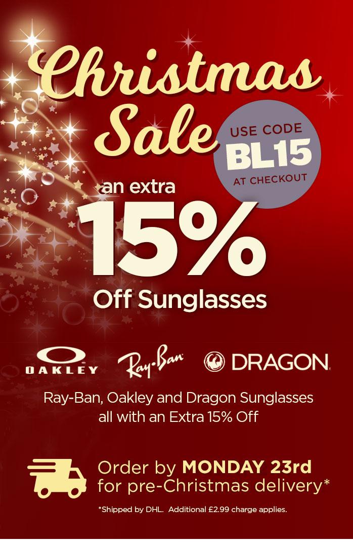 Christmas Sale - Extra 15% Off Sunglasses