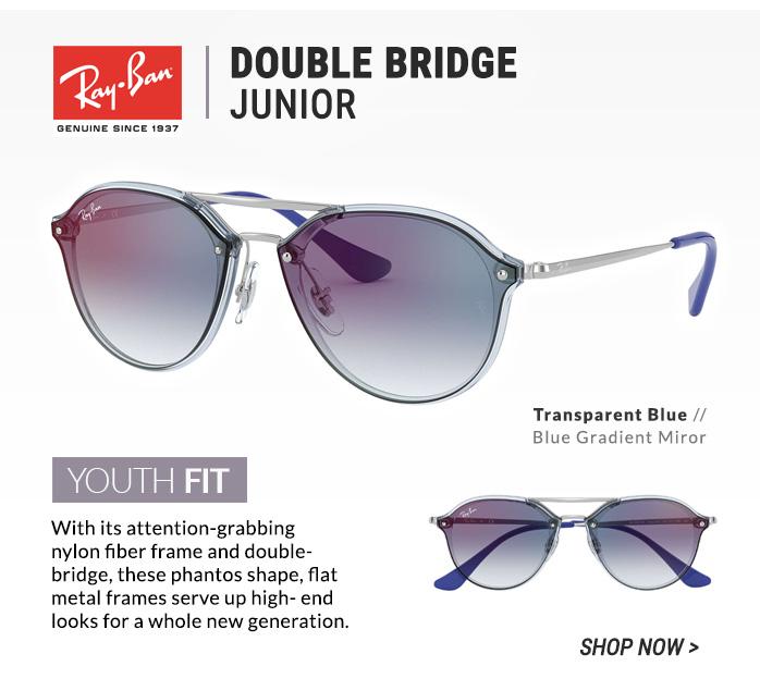Shop Ray-Ban Double Bridge Junior