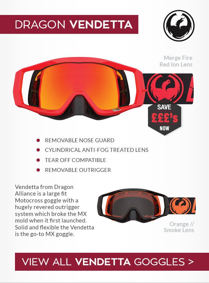 Dragon Vendetta Moto-X Goggles
