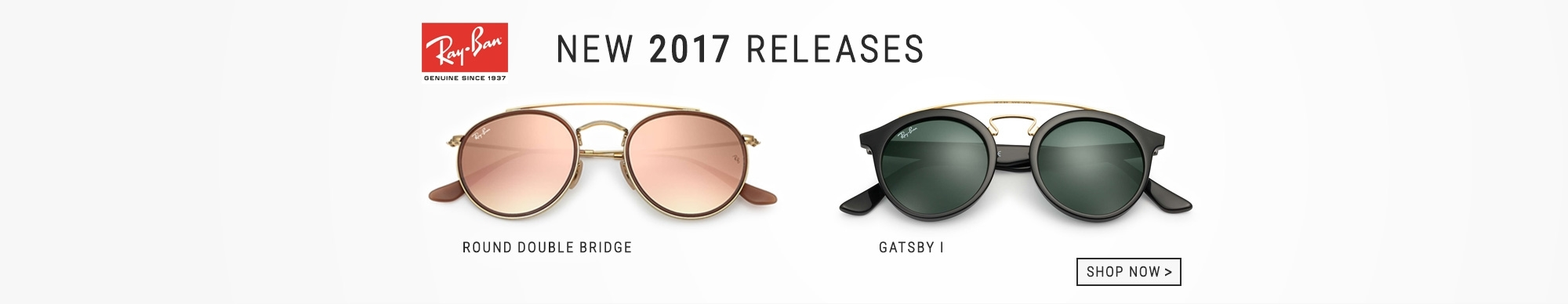 New Ray-Ban Releases, Gatsby, Round Double Bridge May 2017