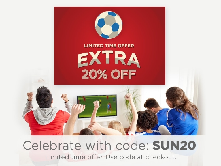 Celebrate with code SUN20