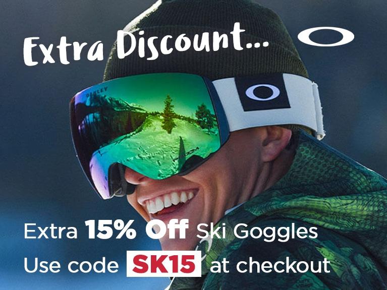 Extra 15% Off Ski Goggles (Oakley) March 2020