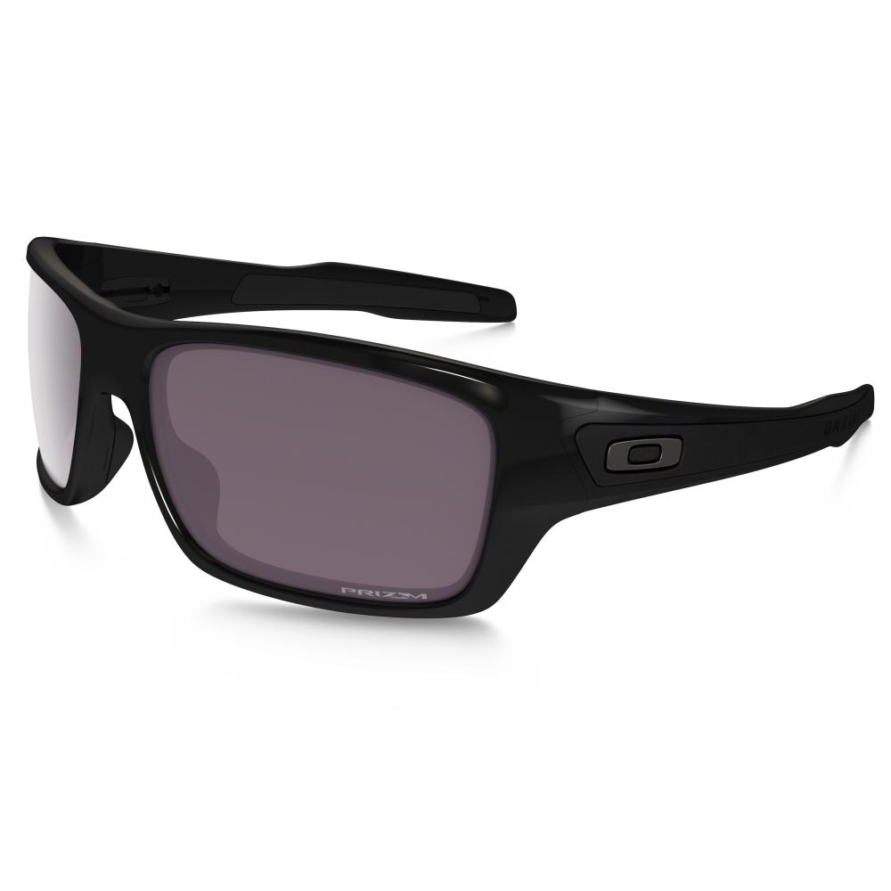 d15fa9e1859 Polarized Oakley Prizm Turbine Sunglasses Polished Black OO9263-06