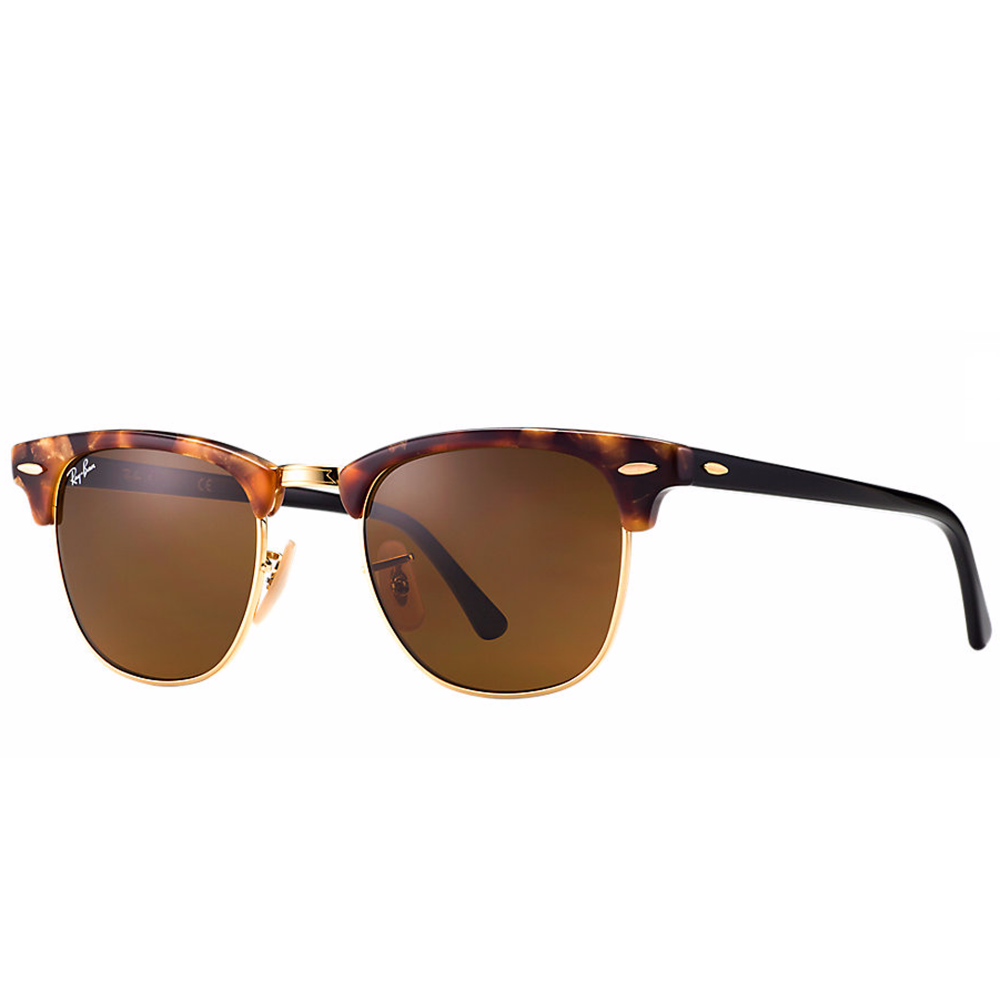 ray ban clubmaster fleck sunglasses spotted brown havana rb3016 1160. Black Bedroom Furniture Sets. Home Design Ideas