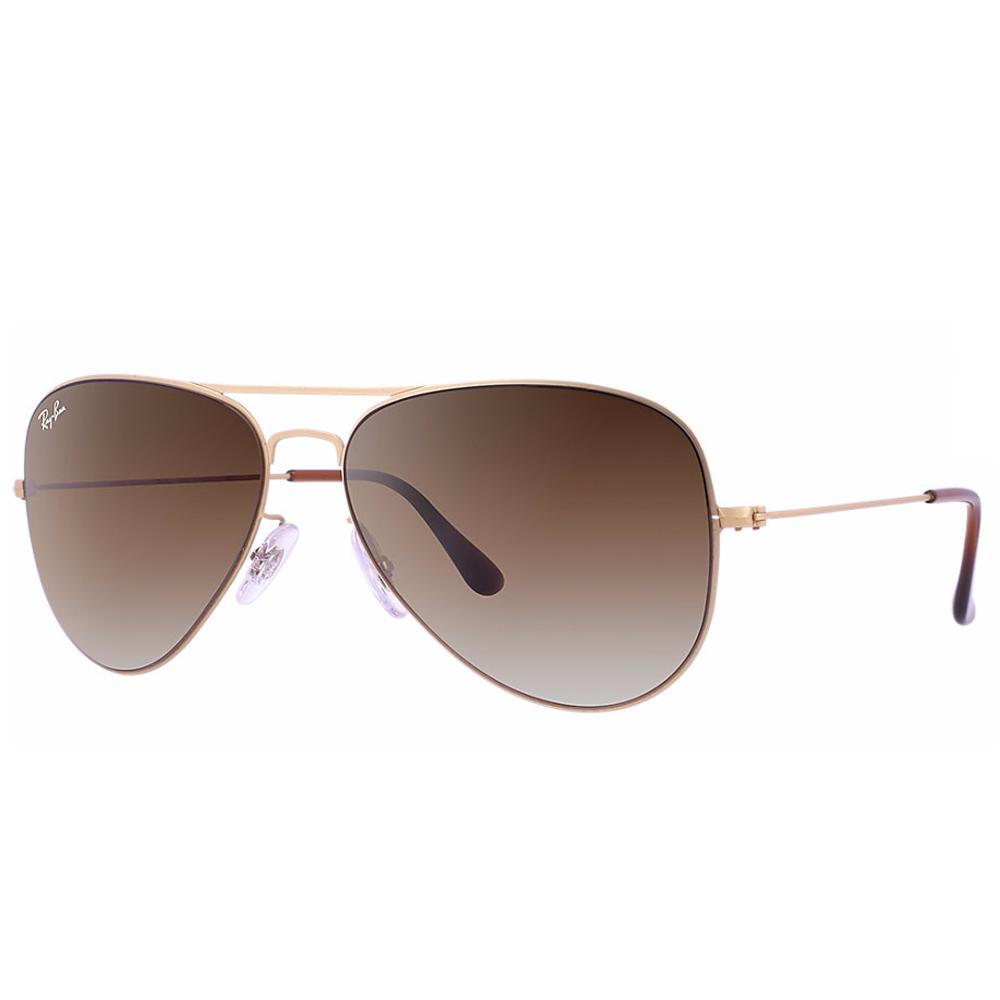 6a6db4b015c Ray-Ban Aviator Flat Metal Sunglasses Demi Gloss Sand Gold RB3513 149 13