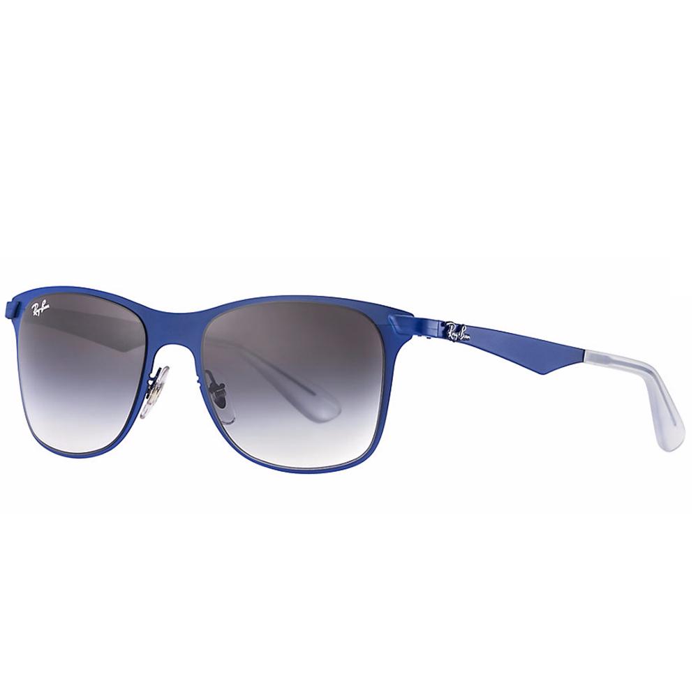 1009cd6982 Ray-Ban Wayfarer Flat Metal Sunglass Matte Blue RB3521 161 8G