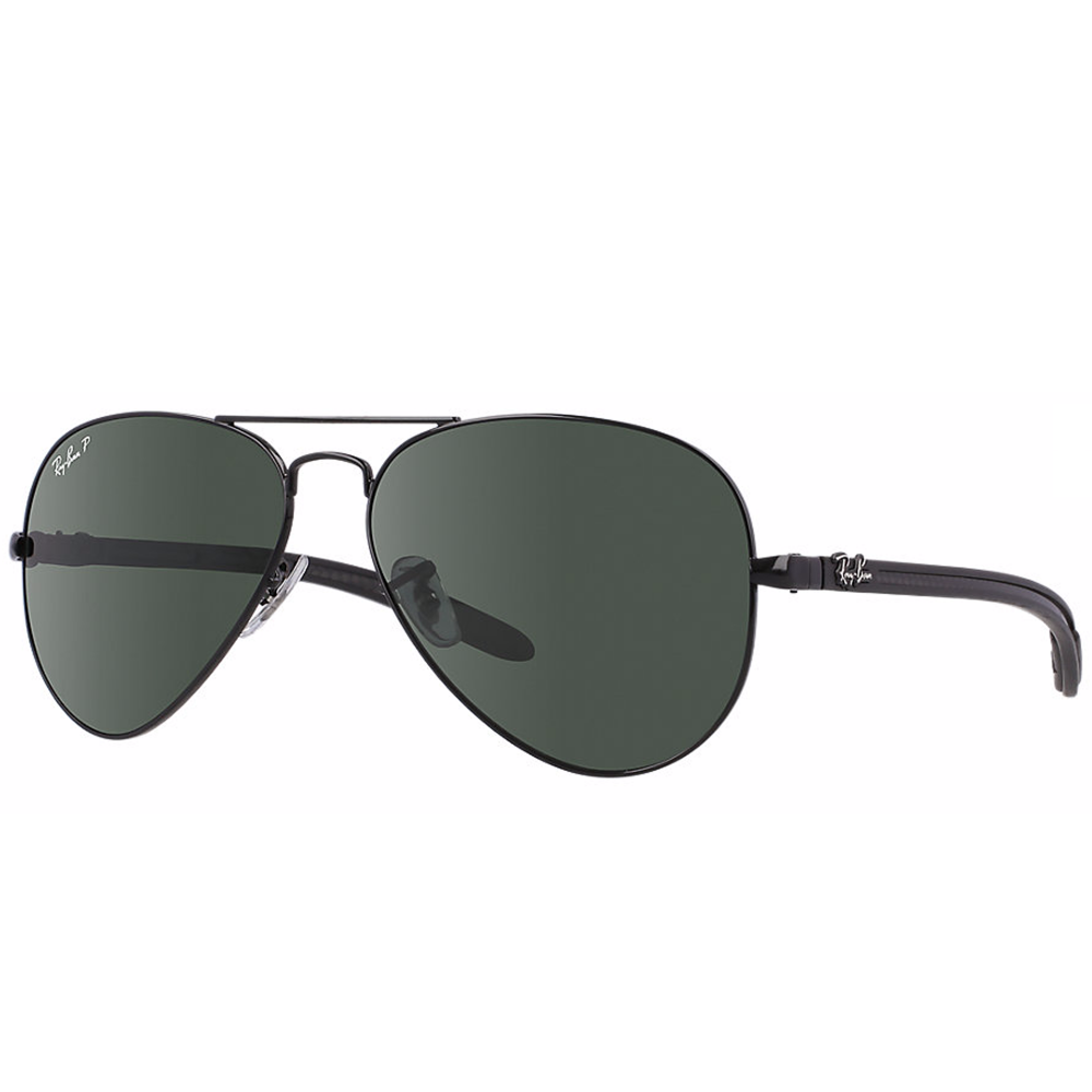 d4f155ba5b Polarized Ray-Ban Aviator Carbon Fibre Sunglasses Black RB8307 002 N5
