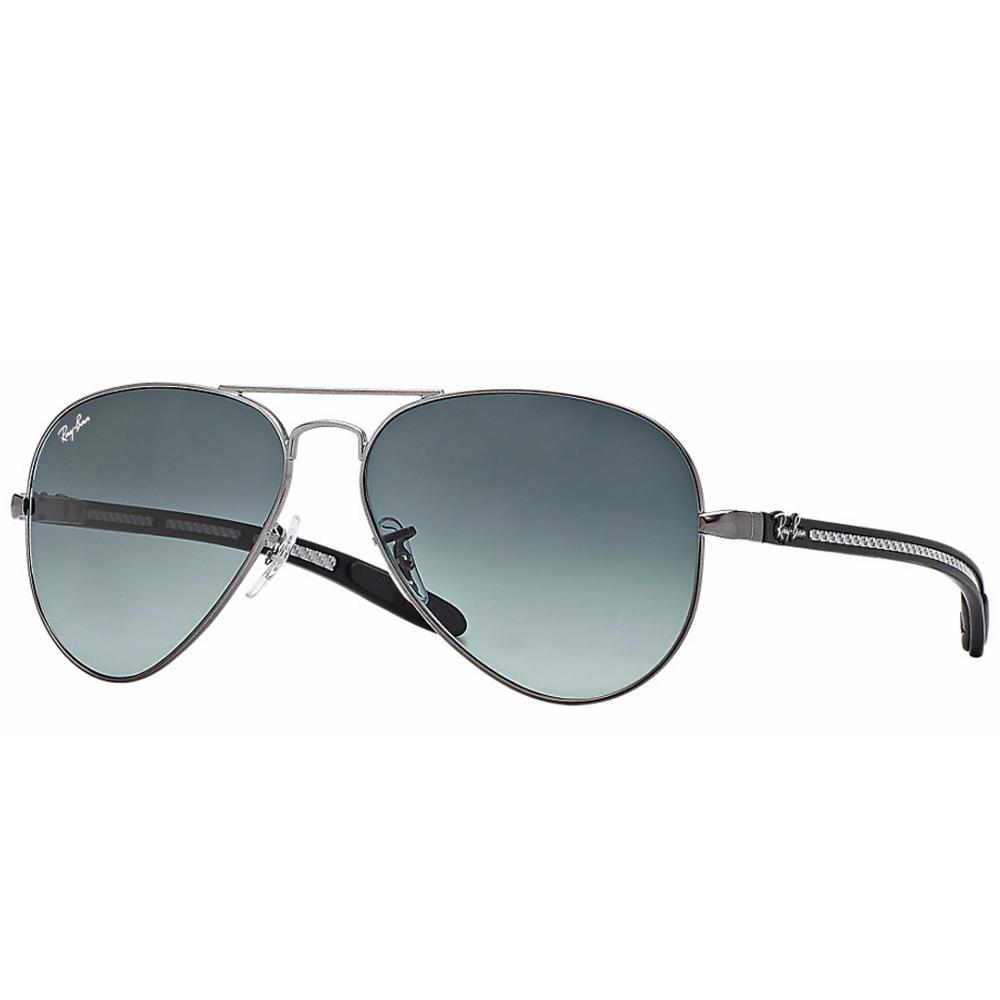 Ray-Ban Aviator Carbon Fibre Sunglasses Matte Gunmetal RB8307 029 71 a46aa08e48b