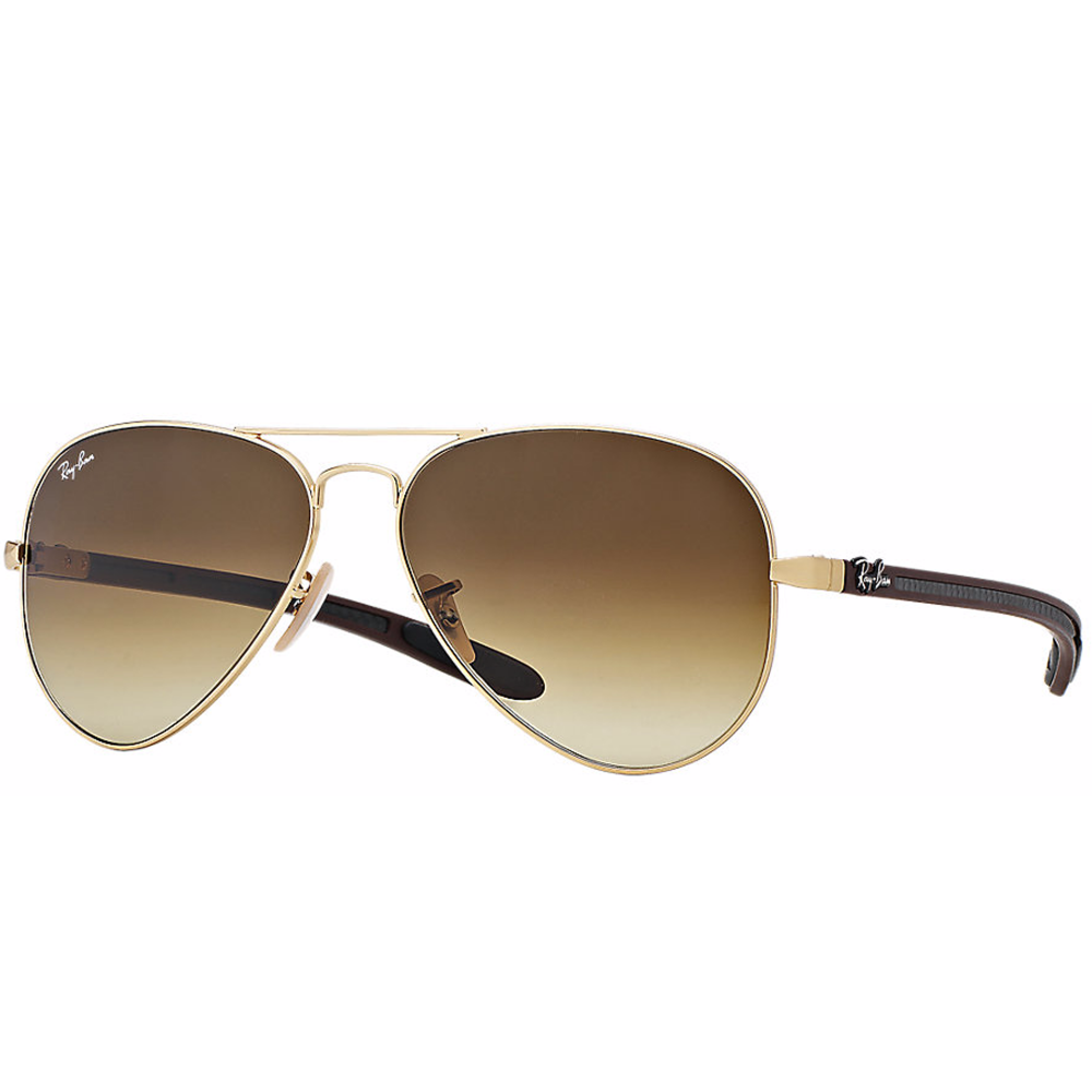ray ban aviator carbon fibre sunglasses matte gold rb8307 112 85. Black Bedroom Furniture Sets. Home Design Ideas