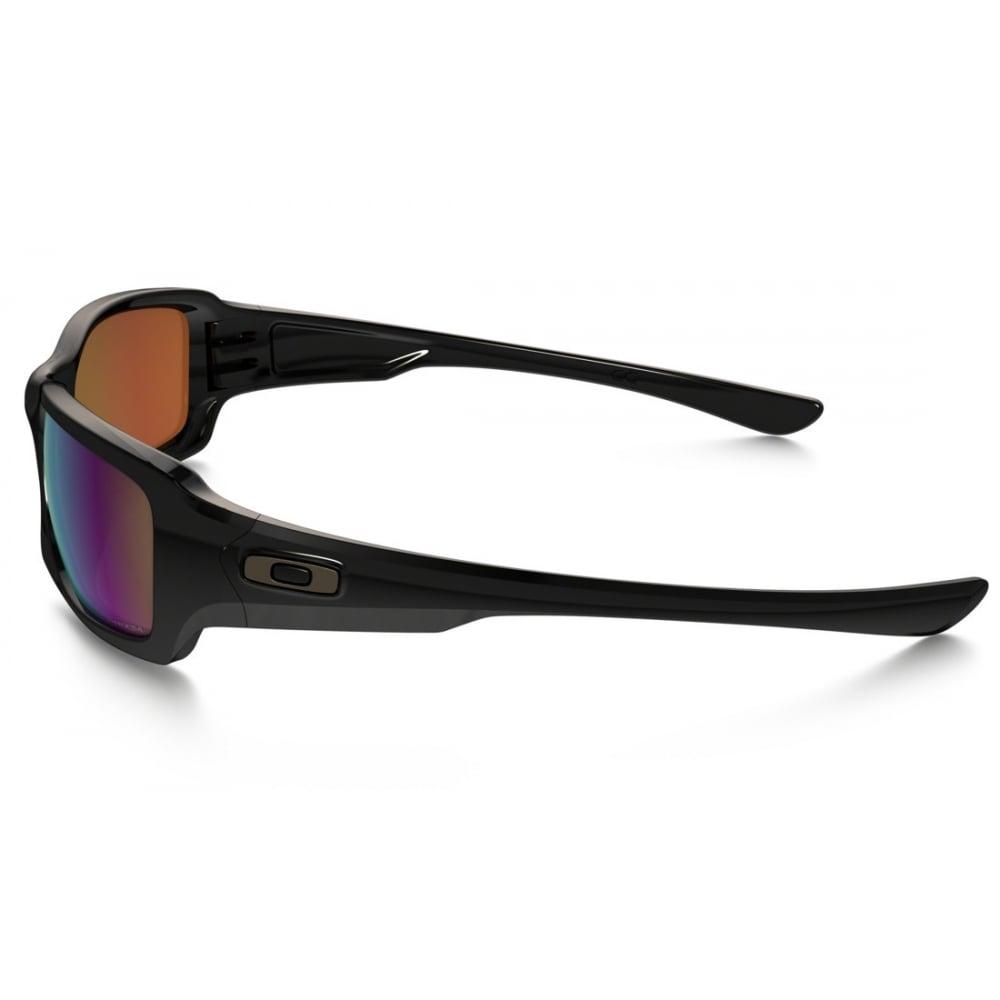 polarized oakley prizm fives squared sunglasses polished black oo9238 18. Black Bedroom Furniture Sets. Home Design Ideas