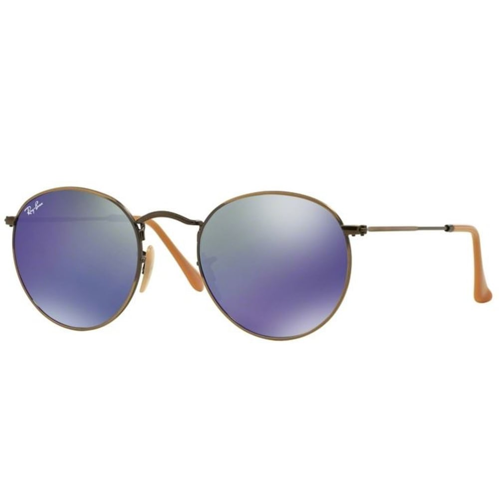 ray ban round metal sunglasses demiglos brusched bronze. Black Bedroom Furniture Sets. Home Design Ideas