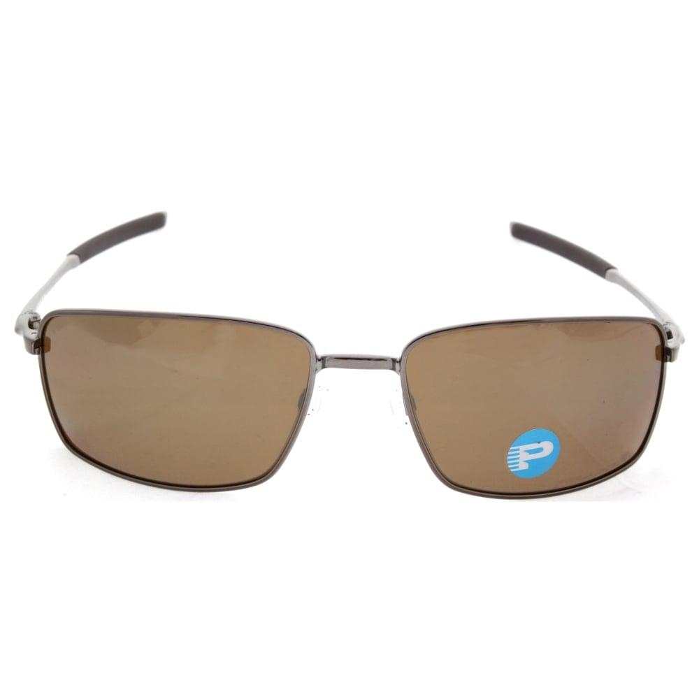 6dec46495c Polarized Oakley Square Wire Sunglasses Tungsten OO4075-06