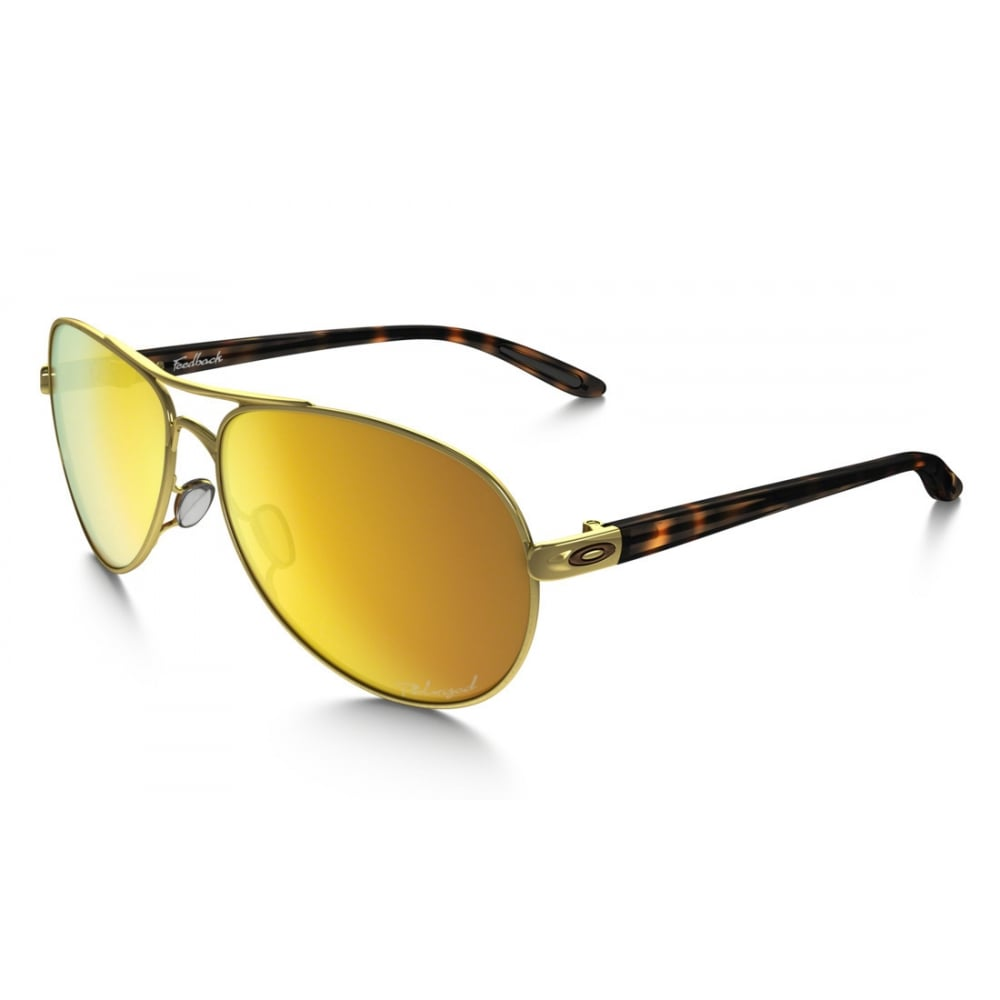 dde069a4bd0 Polarized Feedback Sunglasses Polished Gold OO4079-19