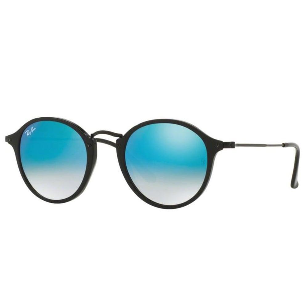 1f9371f832a37 Ray-Ban Round Fleck Sunglasses Shiney Black RB2447 901 40