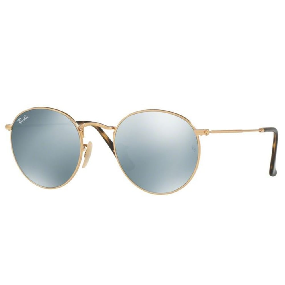 Ray-Ban Round Flat Sunglasses Shiney Gold RB3447N 001 30 6b28c836378a