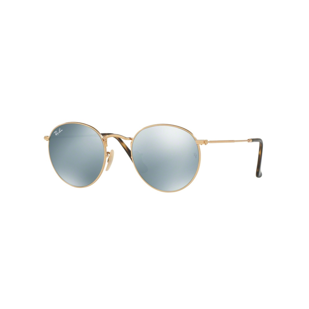6364d582dcc9 Ray-Ban Round Flat Sunglasses Shiny Gold RB3447N 001/30 Small
