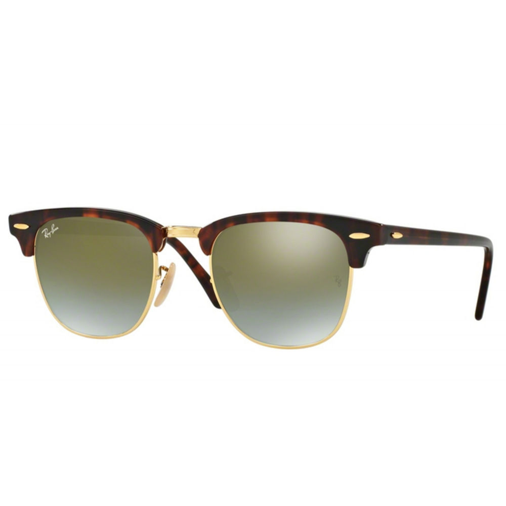Small Clubmaster Sunglasses  ray ban clubmaster sunglasses shiny red havana rb3016 990 9j small