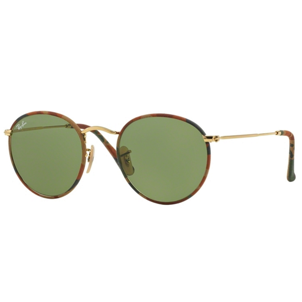 c16e413704b910 Ray-Ban Round Camouflage Sunglasses Camouflage Brown Green RB3447JM ...
