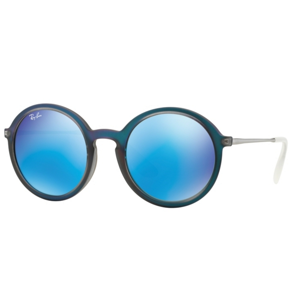 7a49ae1d87b Ray-Ban RB4222 Sunglasses Shot Blue Rubber RB4222 617055