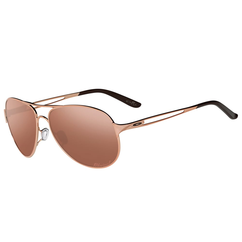 23dc71a15f Polarized Oakley Women s Caveat Sunglasses Rose Gold OO4054-21