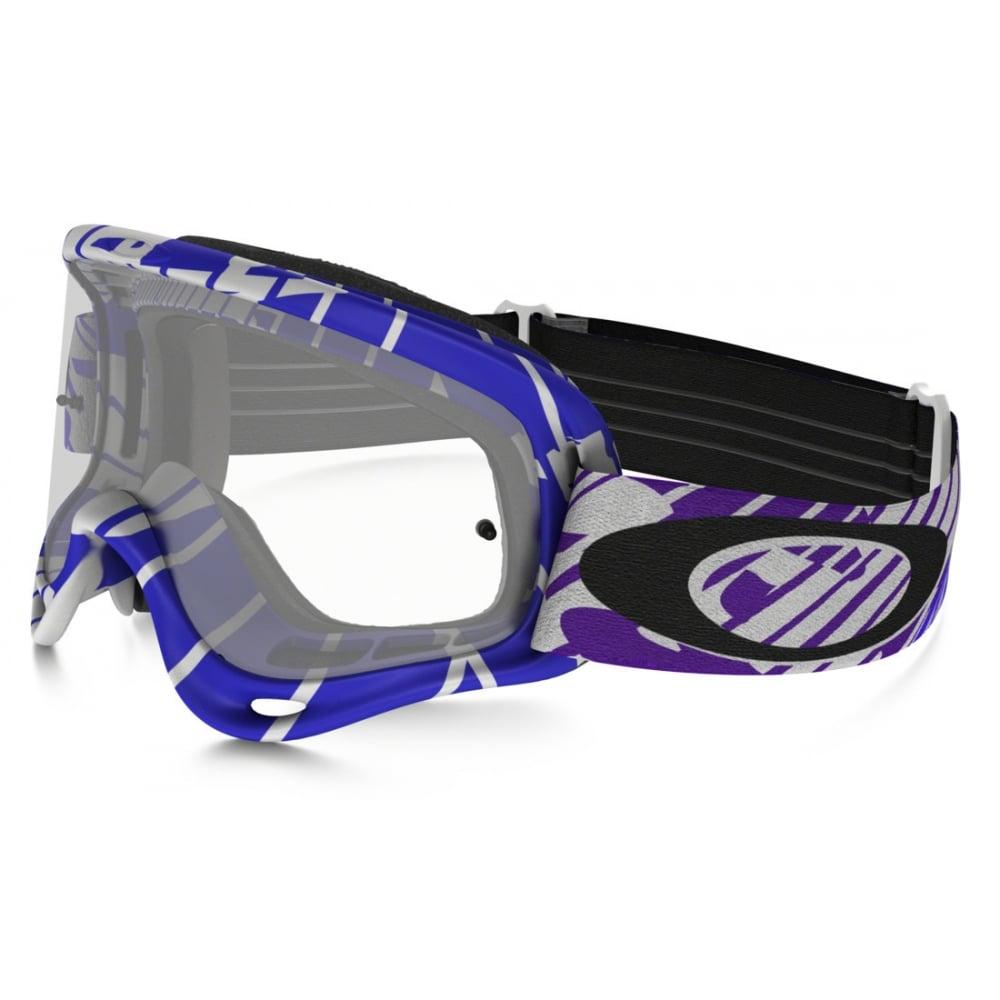 Oakley O Frame MX Motocross Goggles Skull Rush White/Purple OO7029-22