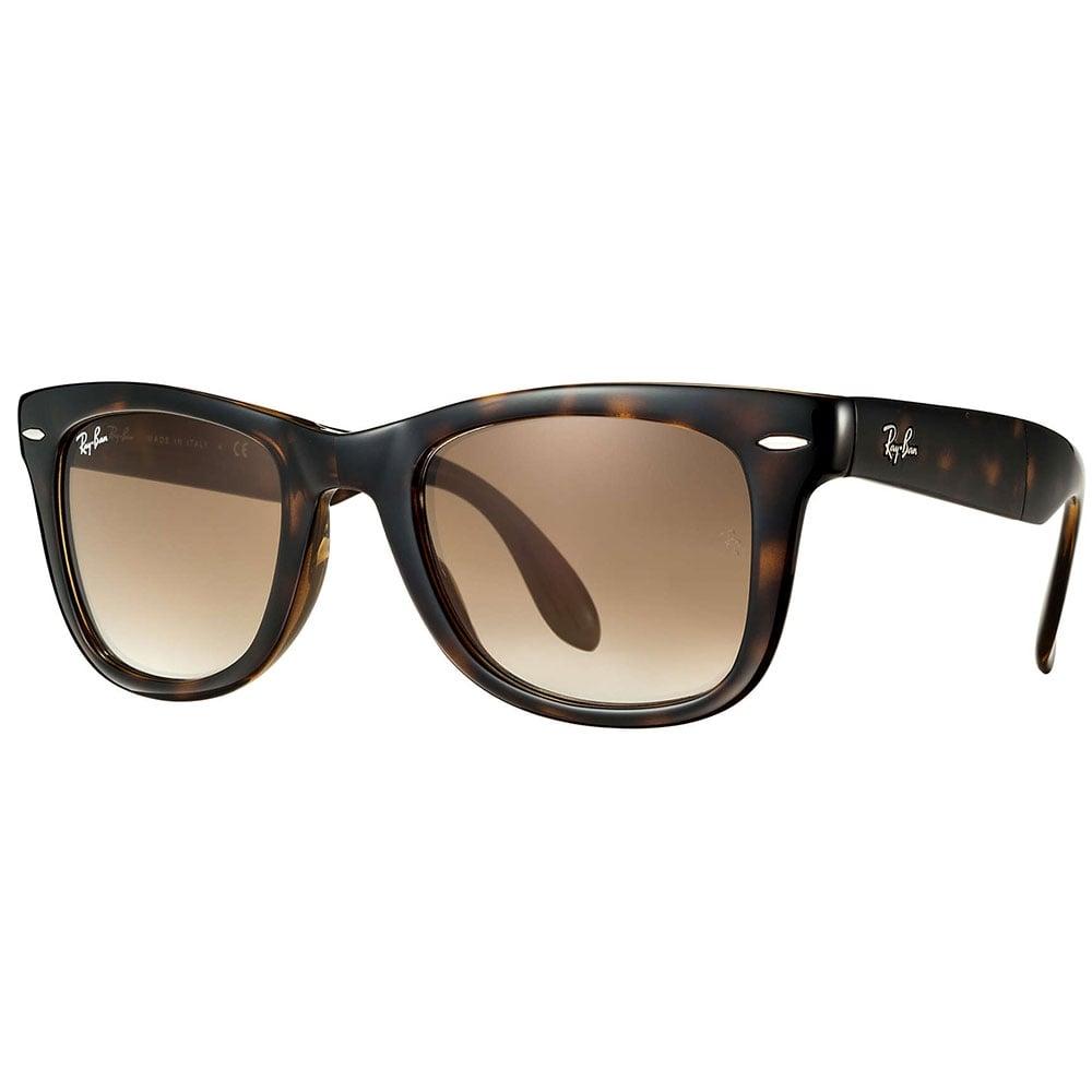 b15d2a9a1c3 Ray-Ban Wayfarer Folding Sunglasses Tortoise Light Havana RB4105 710 51