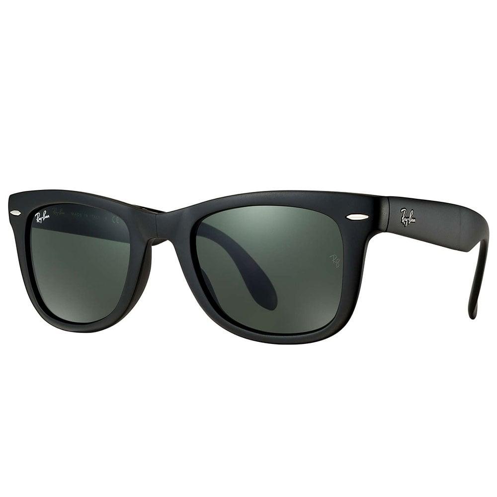 ray ban wayfarer folding sunglasses matte black rb4105. Black Bedroom Furniture Sets. Home Design Ideas