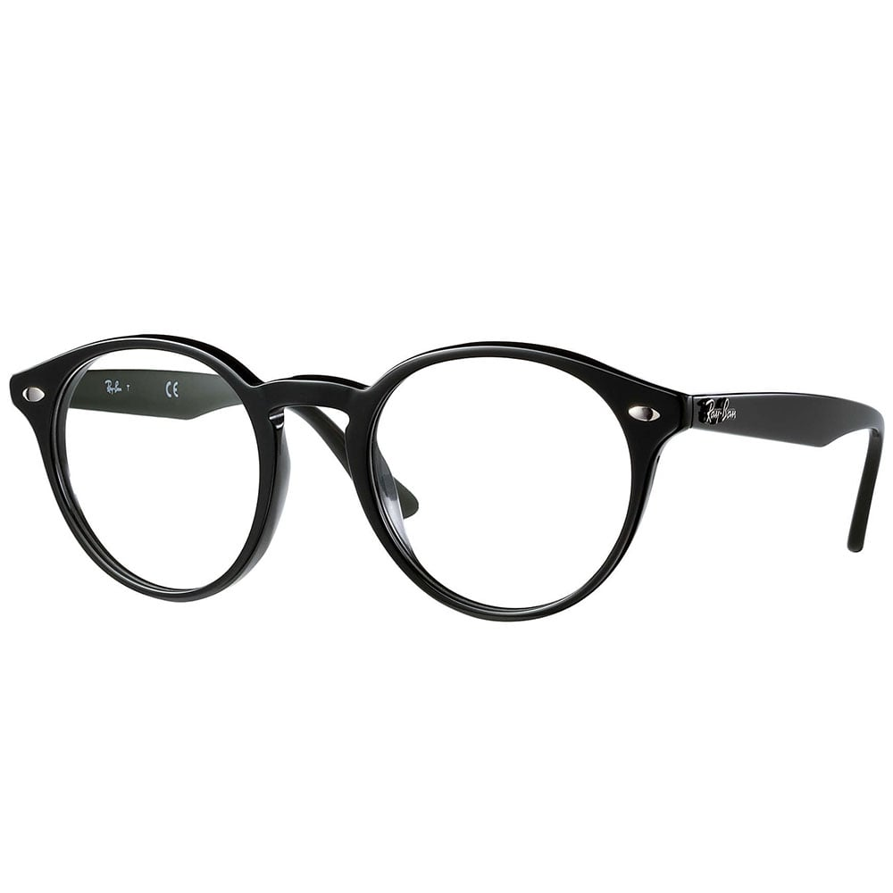 Ray-Ban RX2180V Prescription Frame 49mm Black 0RX2180V 2000 49
