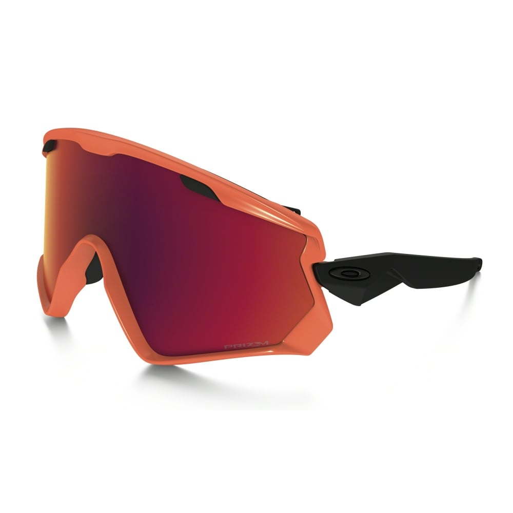 red oakley goggles  Oakley Wind Jacket 2.0 Snow Goggles Neon Orange Red OO7072-05