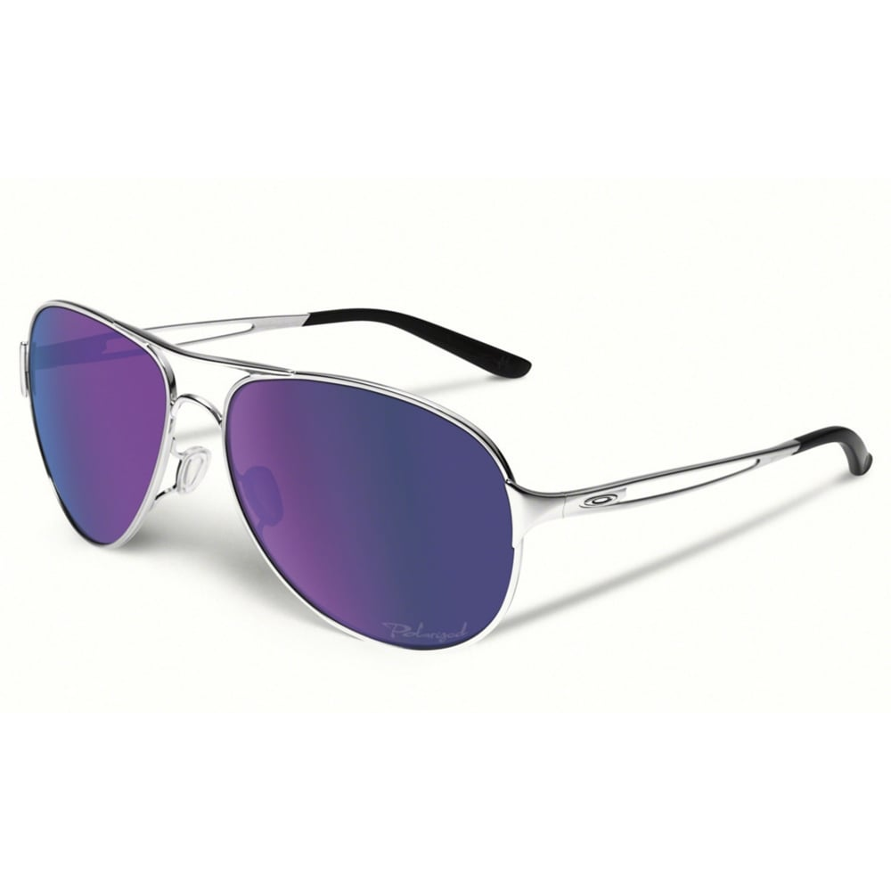 173559f66fde Polarized Oakley Women's Caveat Sunglasses Polished Chrome OO4054-23